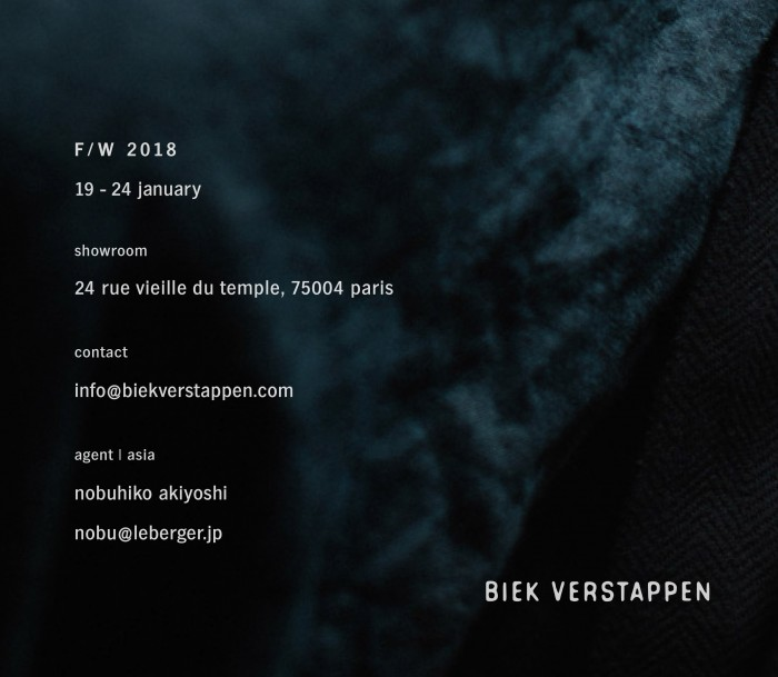 BIEKVERSTAPPEN FW18 INVITATION instagram